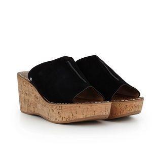Sam Edelman black ranger wedge sandal Sz 7.5